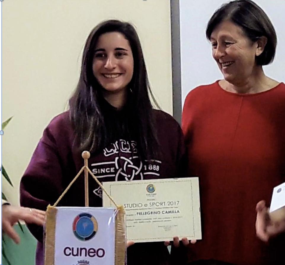 """La Guida - Camilla Pellegrino vince il premio """"Studio e Sport"""""""