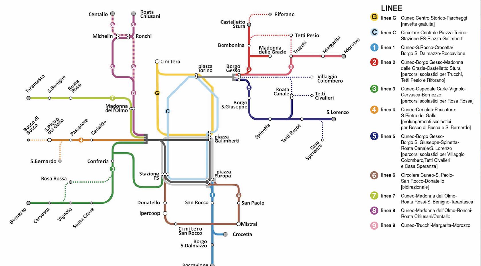 La Guida - Cuneo, menu bus, nuovi orari e percorsi