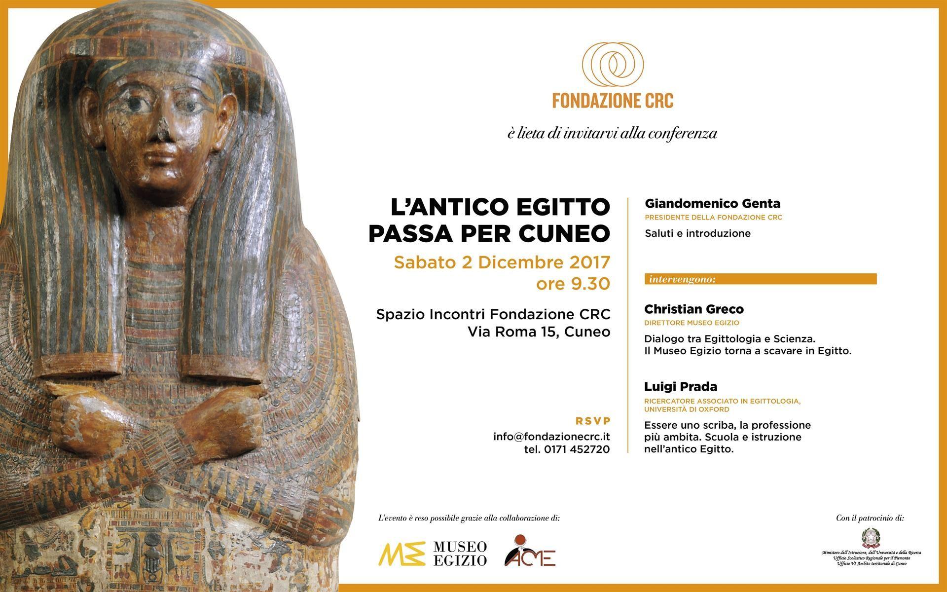 """La Guida - """"L'antico Egitto passa per Cuneo"""""""