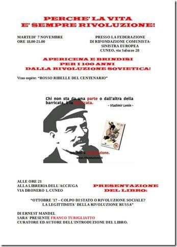 La Guida - Apericena per il centenario della rivoluzione sovietica