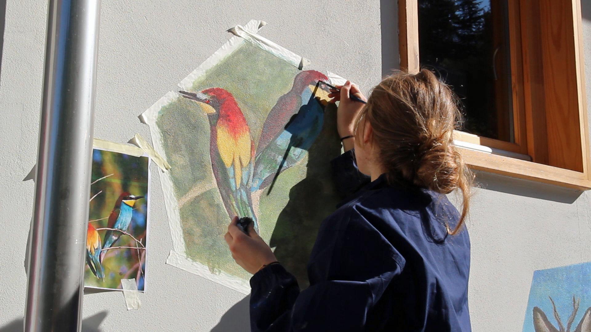 La Guida - Alla Casa del Fiume un murales realizzato dai ragazzi del Liceo Artistico