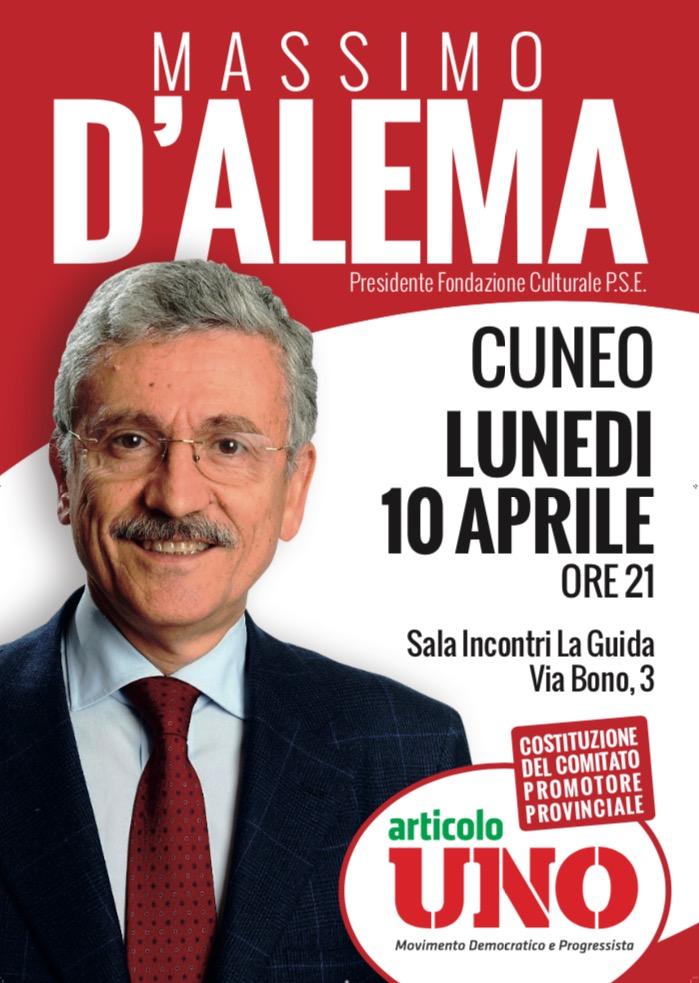 La Guida - Massimo D'Alema oggi a Cuneo