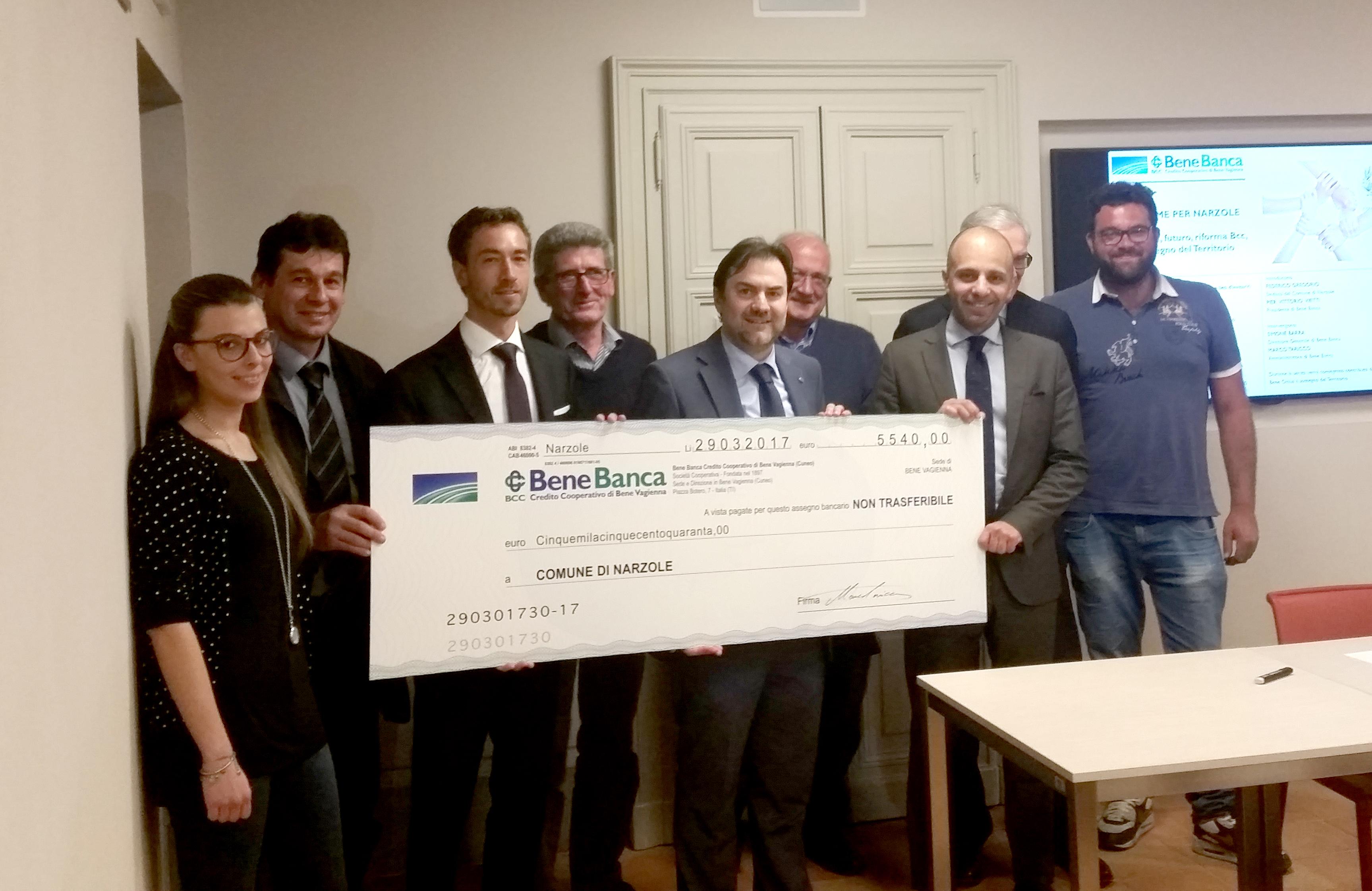La Guida - Bene Banca dona fondi a realtà sociali di Narzole