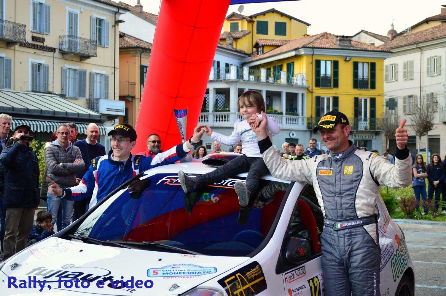 La Guida - Giordano e Santi al secondo posto nel Rally Colli del Grignolino