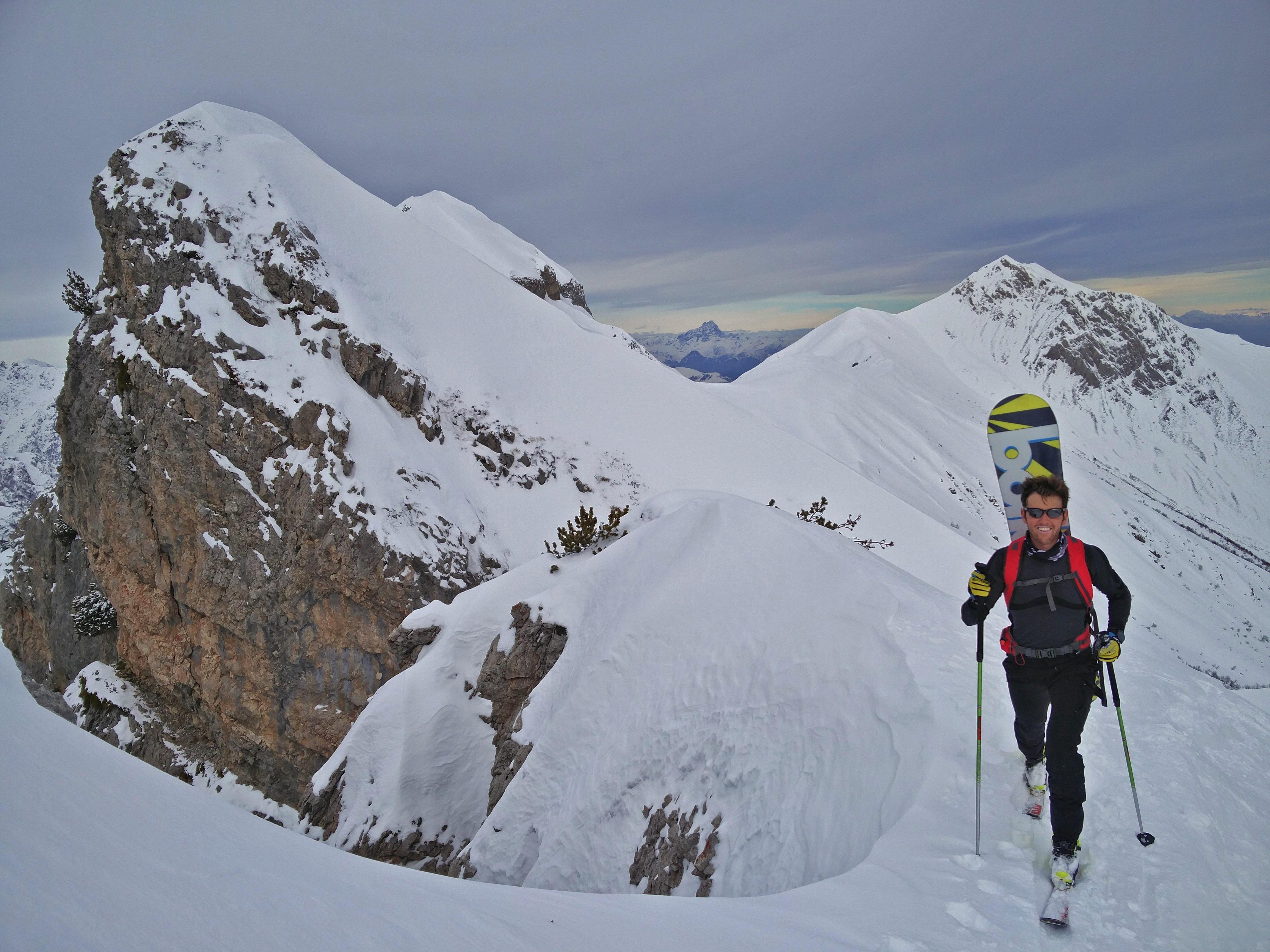 La Guida - Luca Borgoni al 3° posto nei campionati italiani di snowboard alpinismo