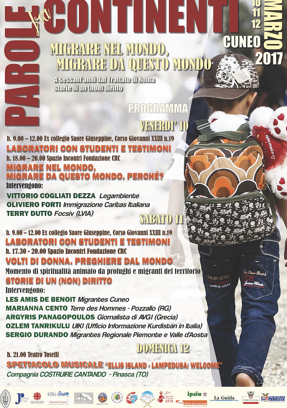 """La Guida - """"Parole fra continenti"""", gli appuntamenti di sabato 11 e domenica 12"""