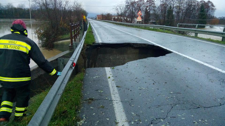 La Guida - Crollato ponte sulla Saluzzo-Pinerolo