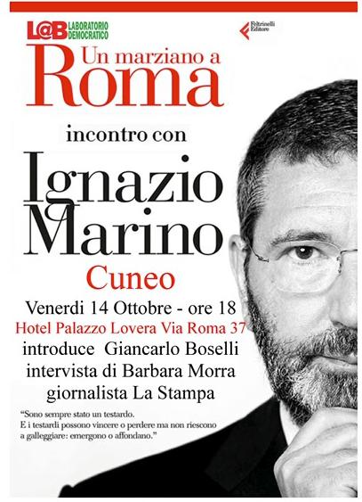 """La Guida - Il """"marziano"""" Ignazio Marino sbarca a Cuneo"""