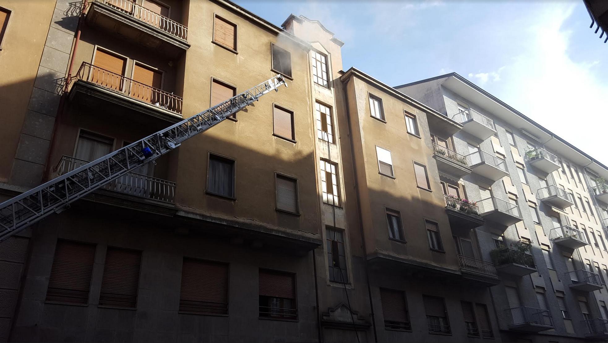 La Guida - Cuneo, incendio in via Bassignano