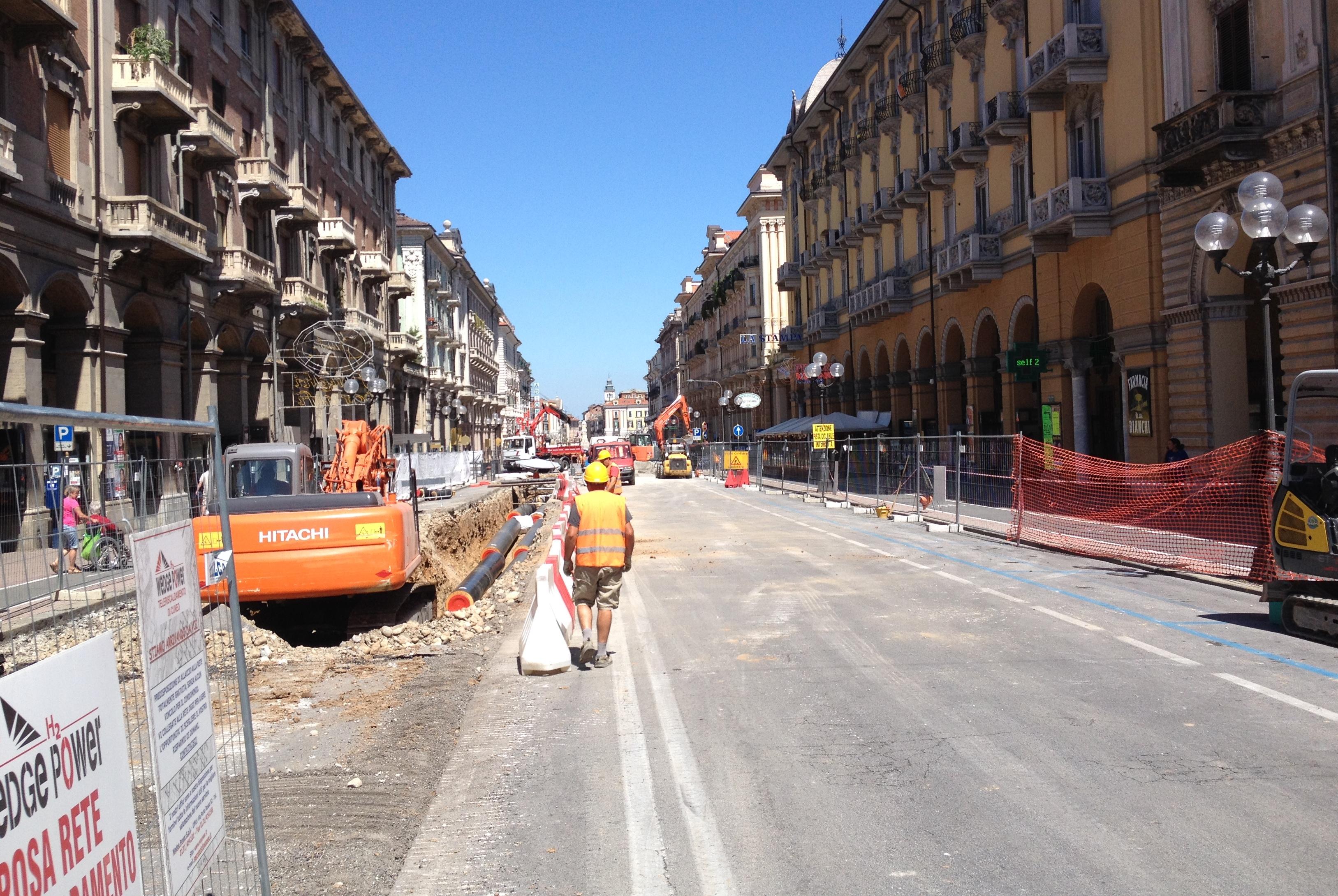 La Guida - Teleriscaldamento si lavora in corso Nizza
