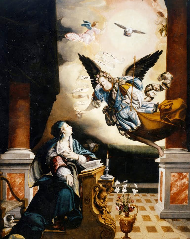 La Guida - L'Annunciazione di Giovanni Angelo Dolce nell'ex chiesa di San Francesco