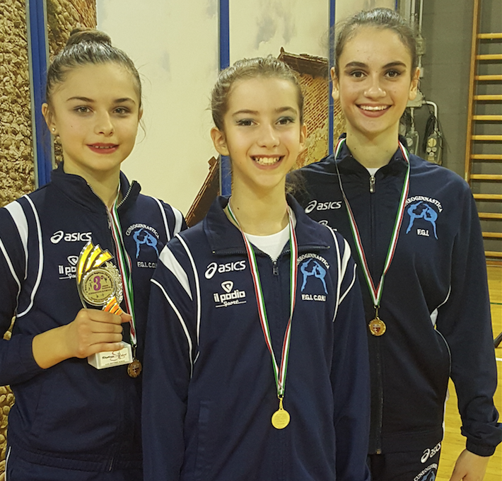 La Guida - Medaglia di bronzo nel campionato regionale di ginnastica ritmica