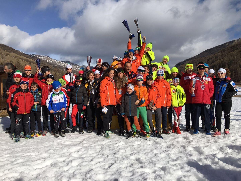 La Guida - Lo Sci Club Alpi Marittime vince il trofeo Buca…neve