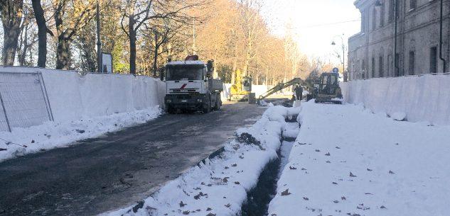 La Guida - Via porta Mondovì chiusa per i lavori del teleriscaldamento