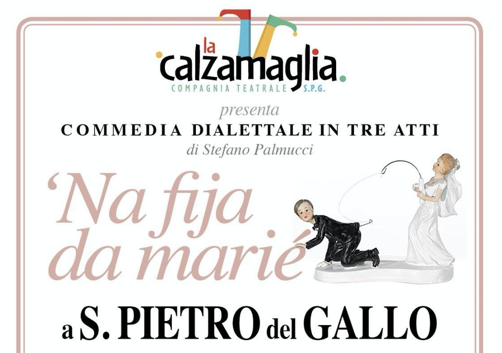 """La locandina del nuovo spettacolo della compagnia teatrale """"La Calzamaglia"""" di San Pietro del Gallo"""