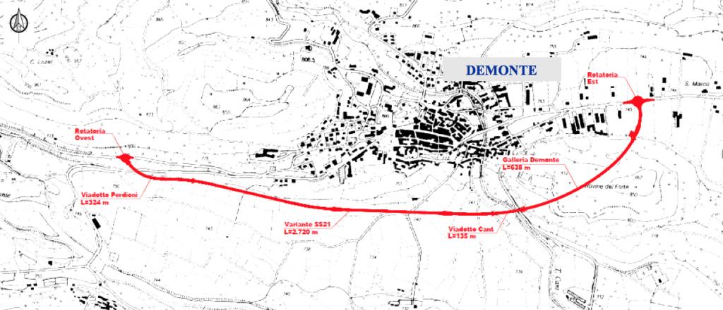 II progetto della variante di Demonte