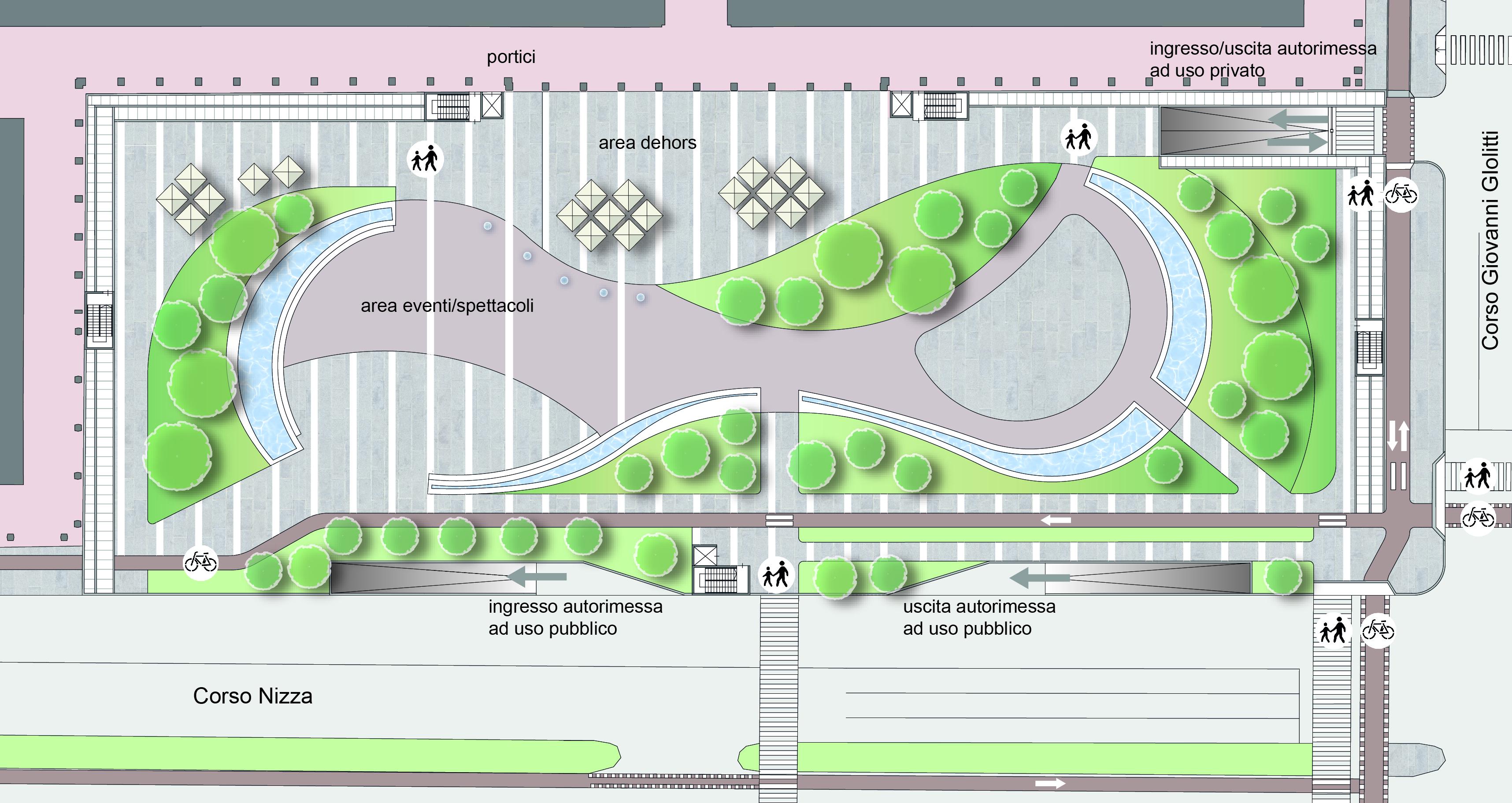 Il masterplan di Piazza Europa