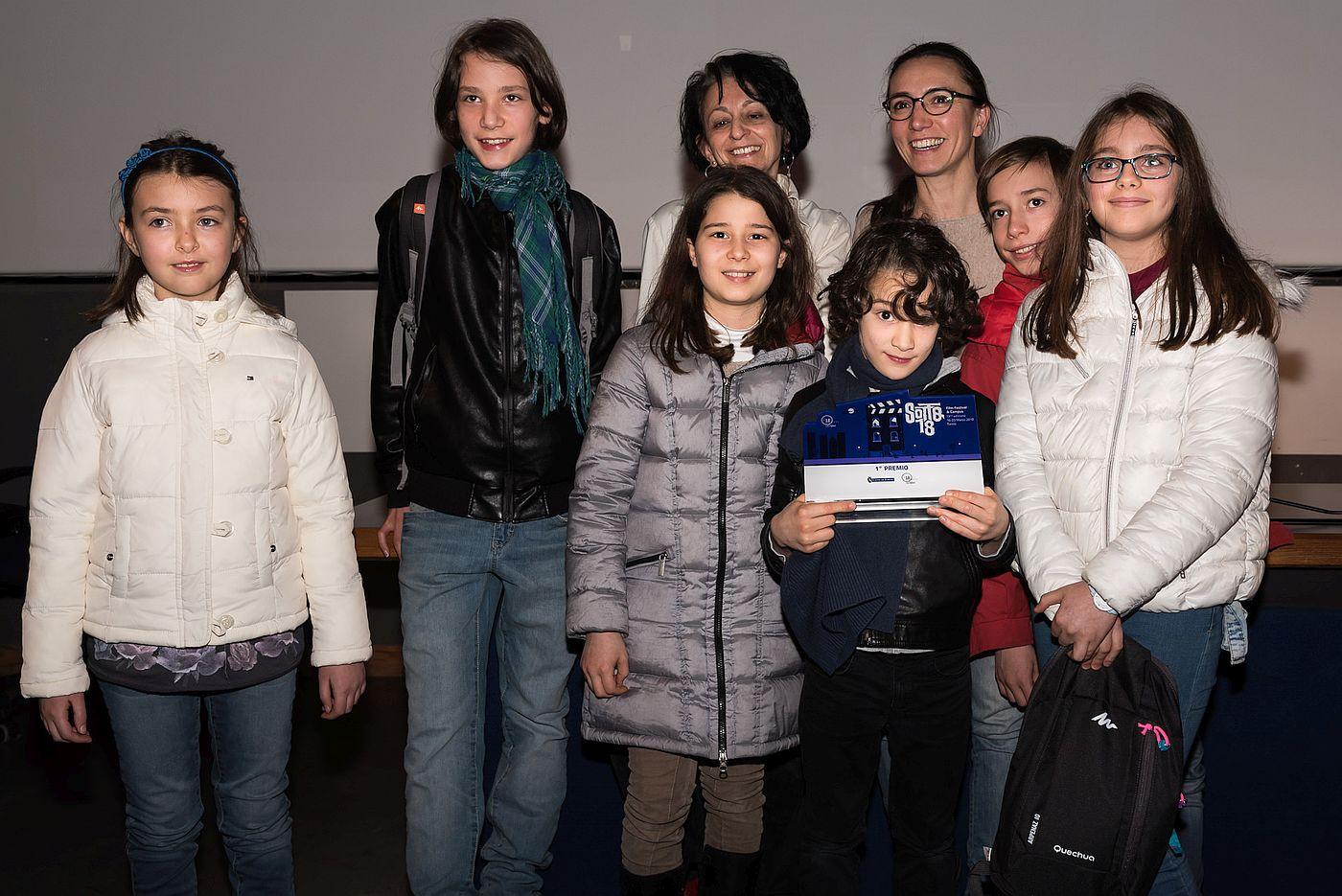 I vincitori del concorso Sotto18-OFF alla premiazione
