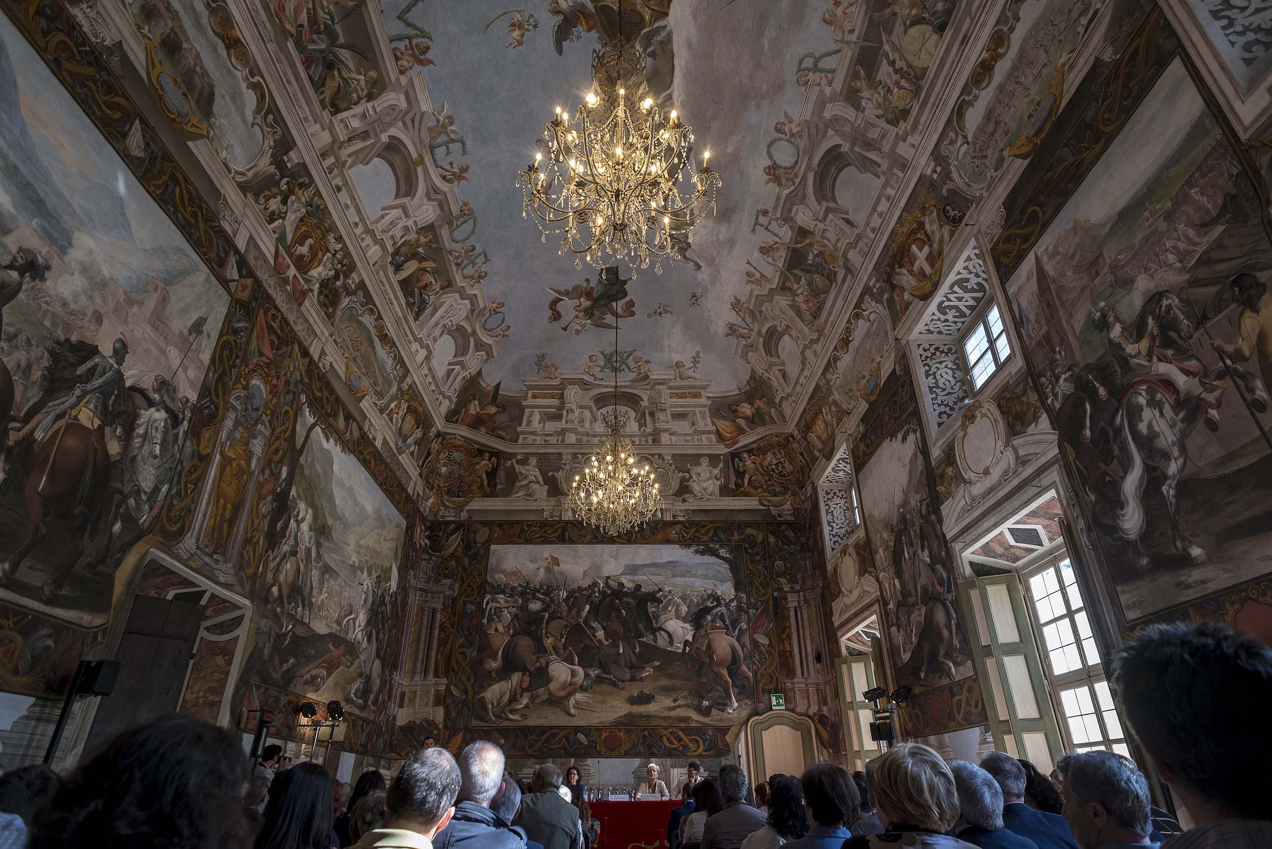 Salone affrescato a Palazzo Taffini D'Acceglio a Savigliano