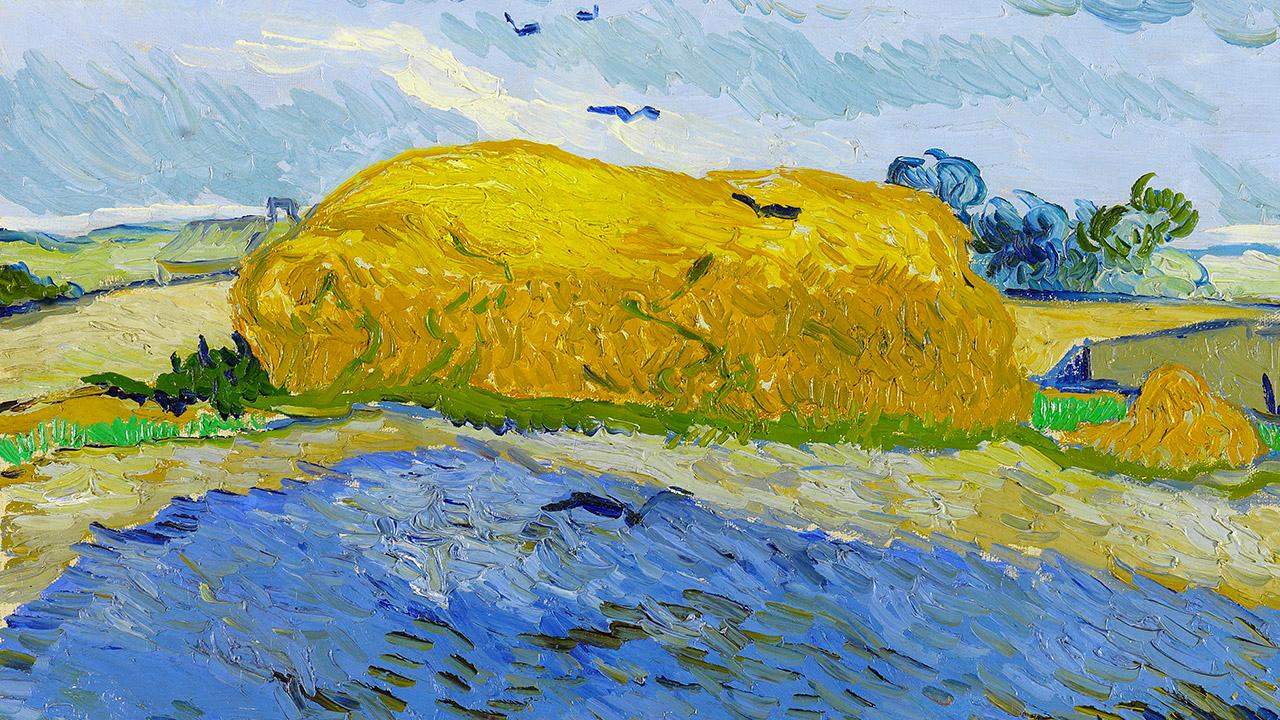 """Il quadro che pubblicizza il film """"Van Gogh tra il grano e il cielo"""""""