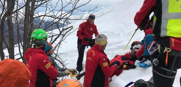 La Guida - Esercitazione del Soccorso alpino di Cuneo e Chiusa Pesio
