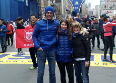 La Guida - Claudio Ravera alla maratona di Boston, sfidando freddo, vento e pioggia