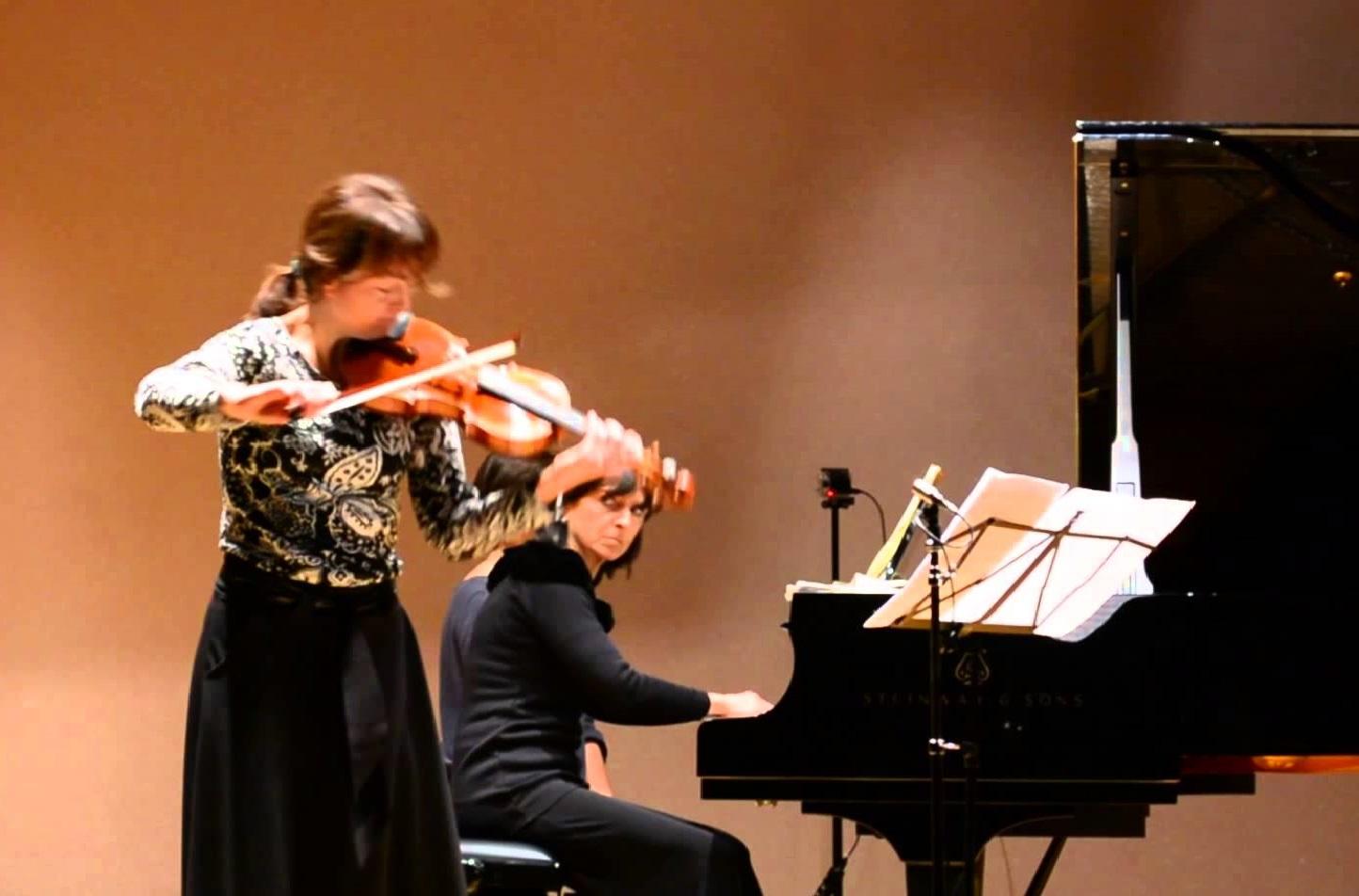 Irene Cardo al violino e Caterina Vivarelli al pianoforte