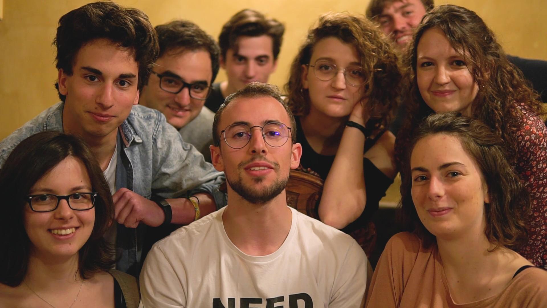 I giovani della Compagnia Teatro In Bottiglia