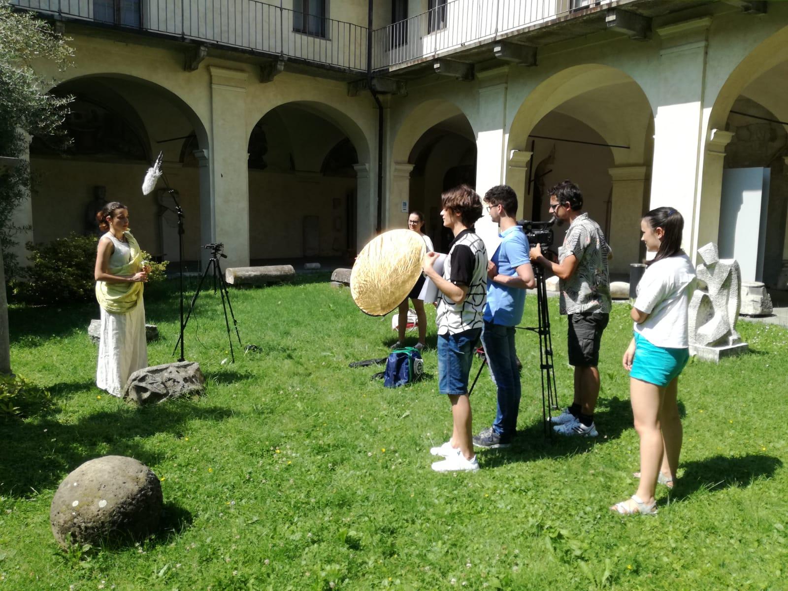 Le riprese per il gioco ideato dagli studenti del progetto Yom.