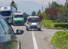 La Guida - Incidente sul rettilineo tra San Benigno e Tarantasca