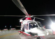 La Guida - Carrù, l'inaugurazione dell'eliporto in notturna