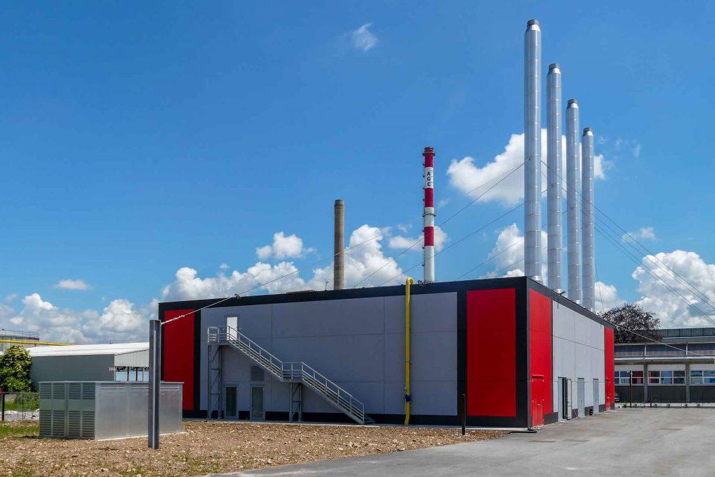 La centrale di cogenerazione del teleriscaldamento all'Agc