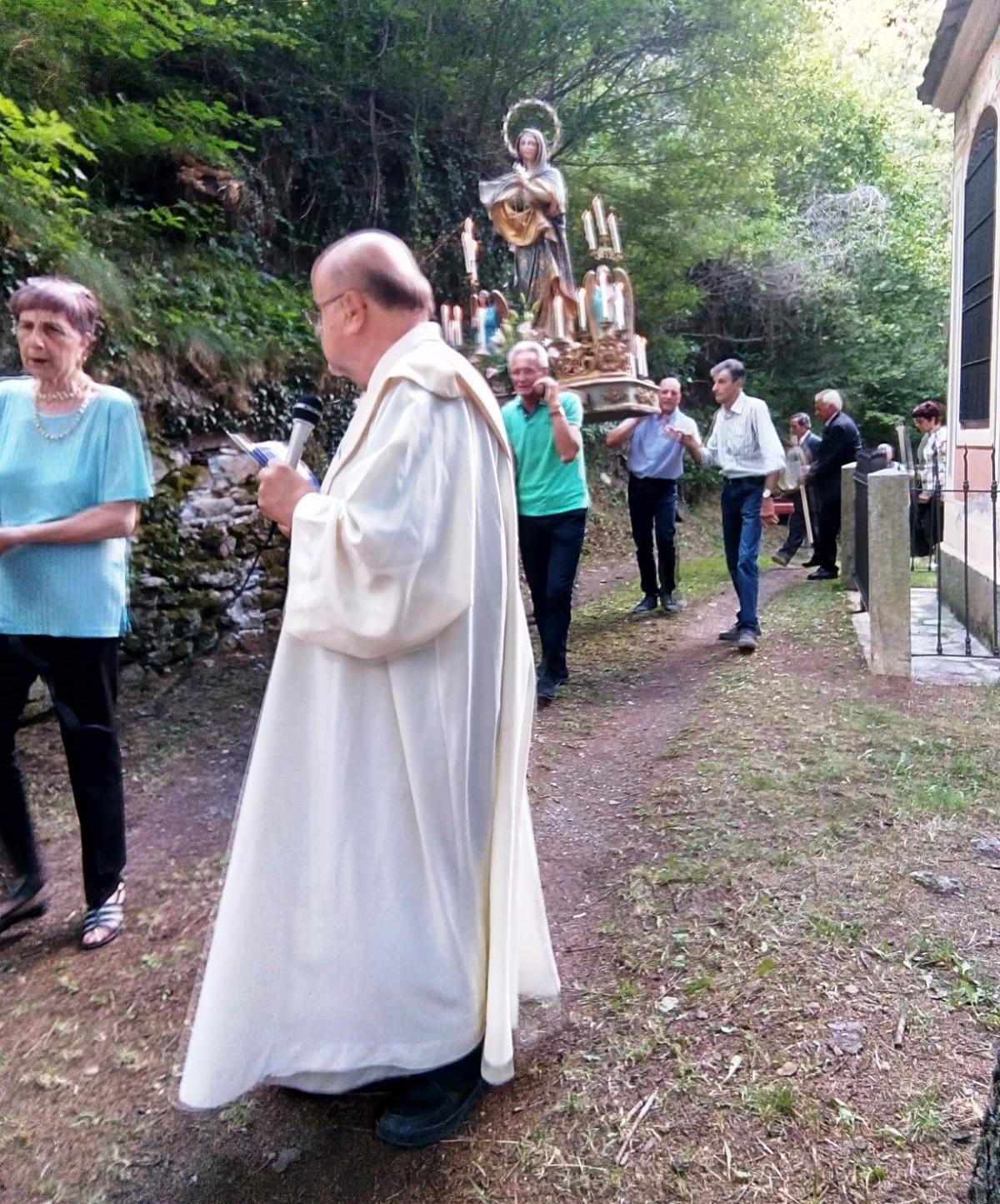 Frassino- Festa al Santuario di Madonna degli Angeli