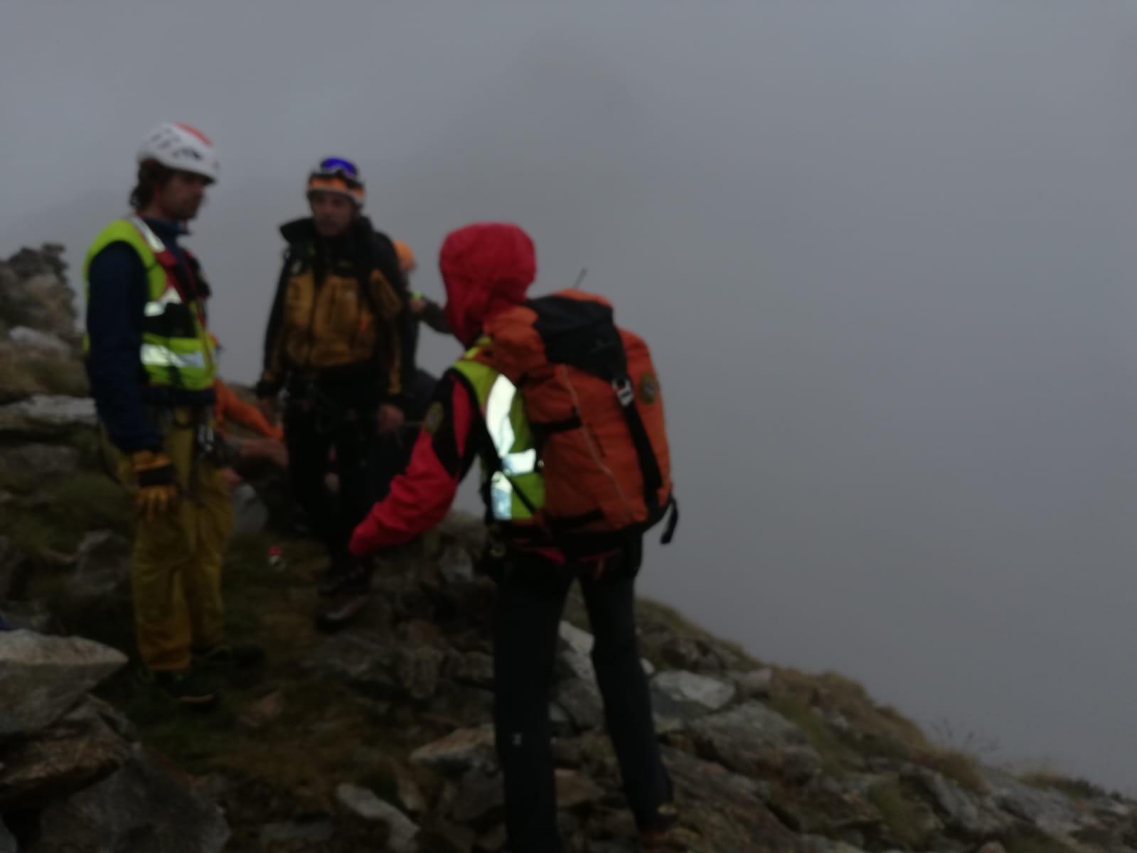 soccorso alla donna infortunata in alta valle Gesso