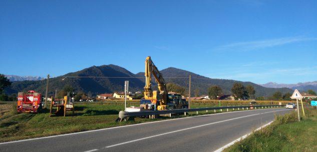 """La Guida - Cantiere al """"bivio Borgo""""? Niente rotonda ma è per il gas"""