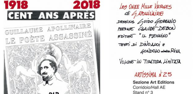La Guida - L'Apollinaire illustrato a biro da Guido Giordano ad Artissima