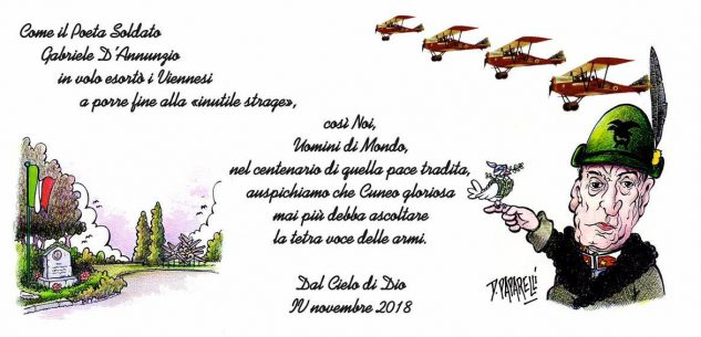 La Guida - Volantini dal cielo al Parco della Resistenza il 4 novembre