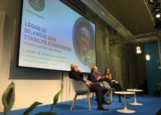 La Guida - Padoan a Cuneo su legge di bilancio, Europa, crescita e debito