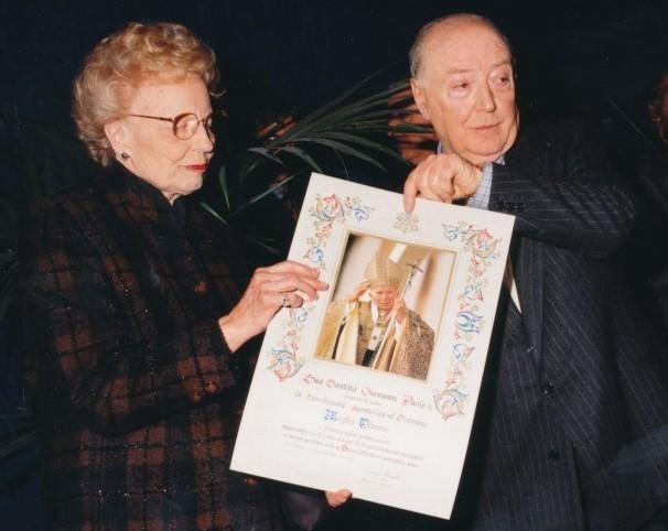don Allemano e Magda Olivero