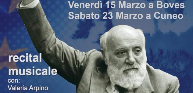 """La Guida - Recital musicale """"L'Europa di Altiero Spinelli"""""""