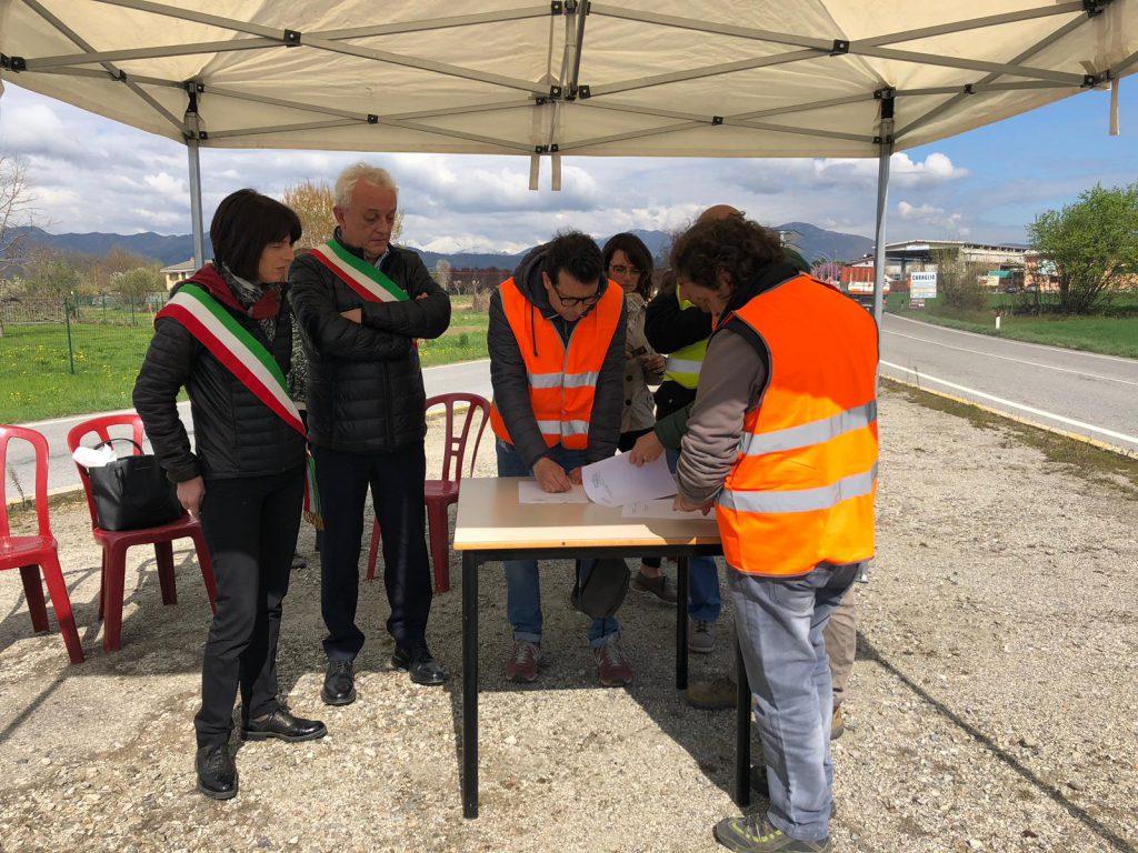 Lavori rotonda Bivio Borgo