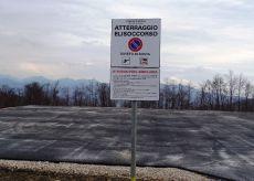 La Guida - L'inaugurazione della pista di atterraggio degli elicotteri di Valmala
