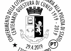 La Guida - Annullo filatelico per il centenario della Questura di Cuneo