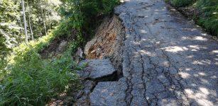 La Guida - Peveragno, la pioggia causa una frana nella zona di Pradeboni