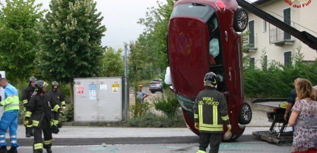 La Guida - Scontro fra auto all'ingresso di Peveragno