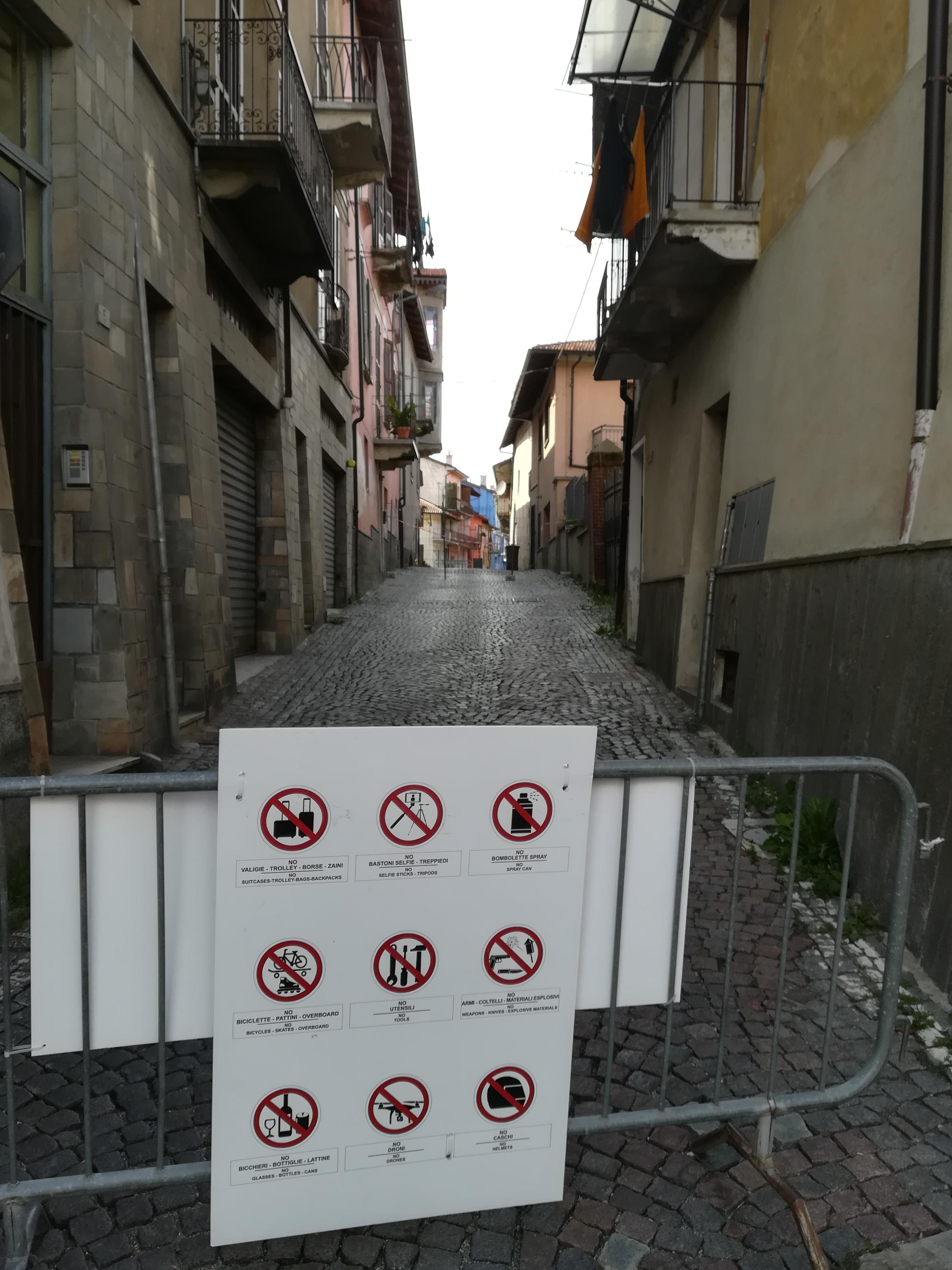 Borgo San Dalmazzo - Chiusura di via Grandis