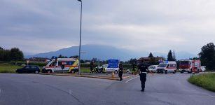 La Guida - Una vettura contro il guardrail alle porte di Cuneo