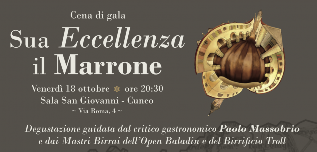 La Guida - Cuneo, cena di gala benefica all'apertura della Fiera del Marrone