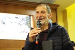 Marco Olmo alla festa del Roata Chiusani