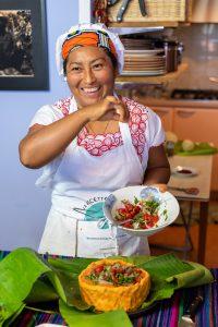 Dulce, cuoca messicana che ha partecipato al progetto